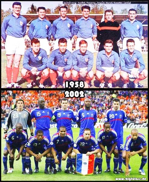 Die Französische Nationalmannschaft- 1958 und 2002