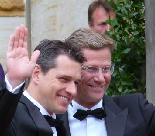 guido westerwelle und michael mronz Westerwelle traut sich endlich