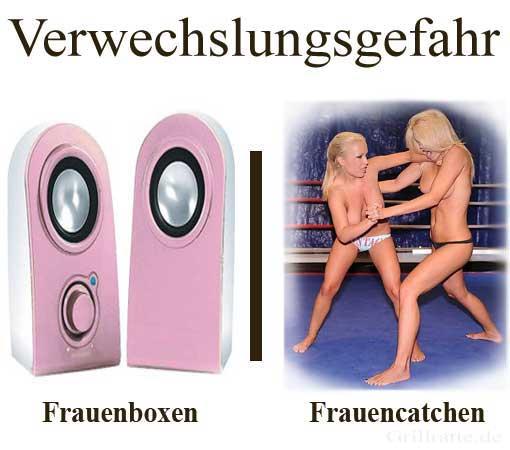 frauencatchen und frauenboxen