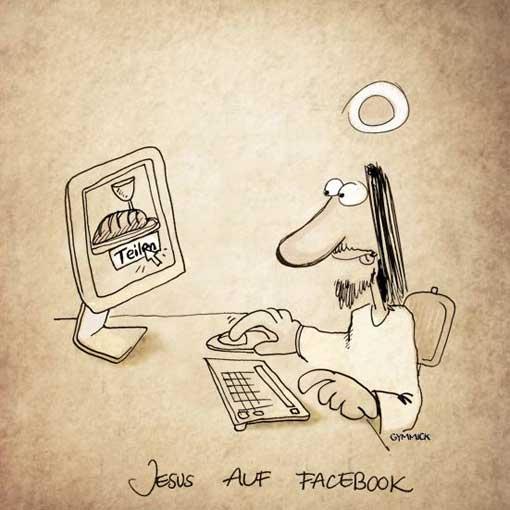 jesus auf facebook