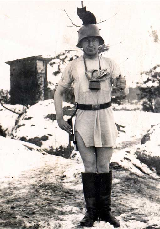 soldat im winter