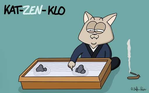 tierscherzgebiet-kat-zen-klo